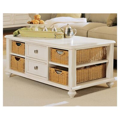Baileyville 2 Drawer Coffee Table Finish: Buttermilk
