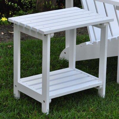 Arcel Rectangular Cedar Side Table Finish: White