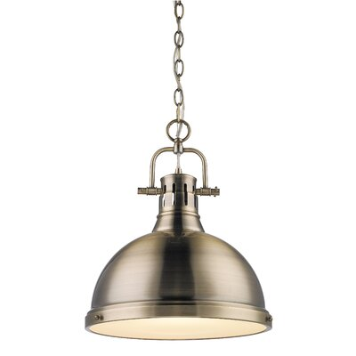 Bowdoinham 1-Light Bowl Pendant Finish: Black, Shade Color: Seafoam