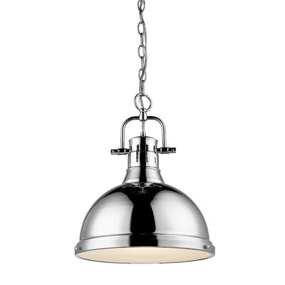 Bodalla 1-Light Chrome Bowl Pendant Shade Color: Chrome