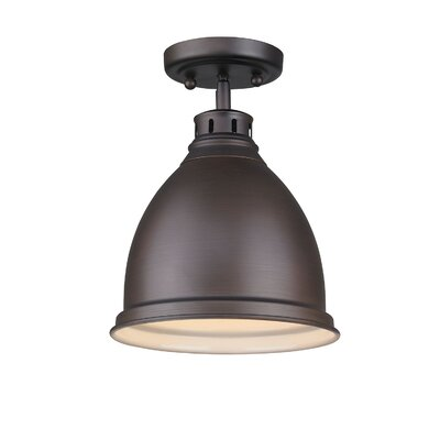 Bowdoinham 1-Light Outdoor Semi Flush Mount