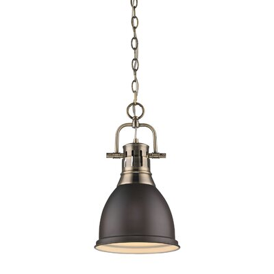 Bodalla 1-Light Aged Brass Mini Pendant