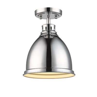 Bodalla 1-Light Semi Flush Mount Finish: Chrome, Shade Color: Chrome