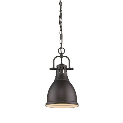 Bowdoinham 1-Light Mini Pendant Size: 15.75 H x 8.875 W
