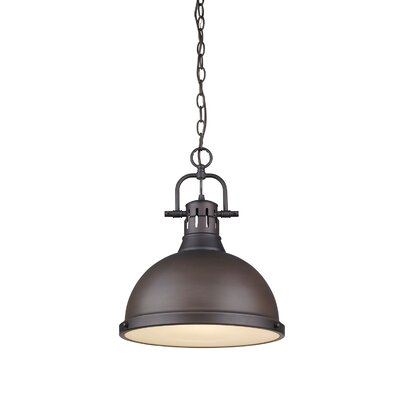 Bodalla 1-Light Inverted Pendant Size: 16.5 H x 14 W