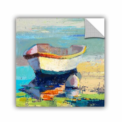 Bottle Green Boat Painting Print BRWT2230 27805337