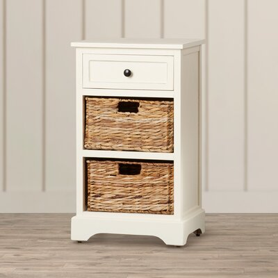 Edmonton Storage End Table Finish: Distressed Cream