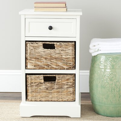 Edmonton Storage End Table Color: Distressed Cream