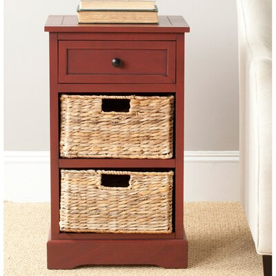 Edmonton Storage End Table Color: Red