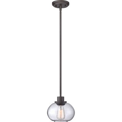 Braxton 1-Light Metal Mini Pendant Finish: Old English Bronze