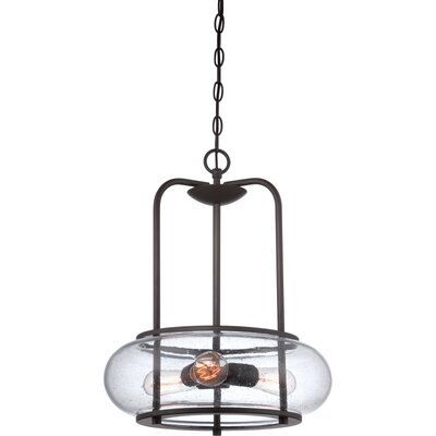 Braxton 3-Light Drum Pendant Finish: Old Bronze