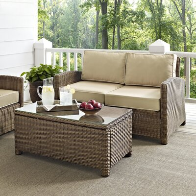 Dardel 2 Piece Deep Seating Group with Cushions Fabric: Sand