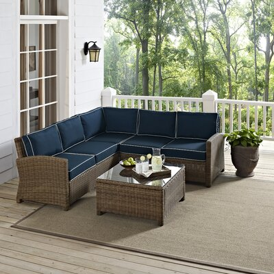 Breese 4 Piece Deep Seating Group with Cushions BRWT2324 27980846