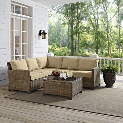 Middlesex 4 Piece Deep Seating Group with Cushions Fabric: Sand