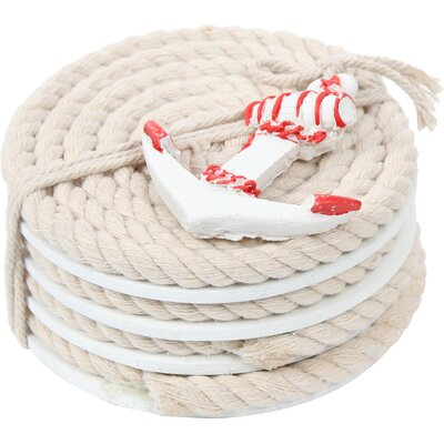 Pelican Bay Nautical Rope Coaster