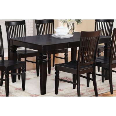 Pennington Dining Table Finish: Black