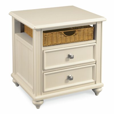 Tyrrell End Table With Storage Color: Buttermilk