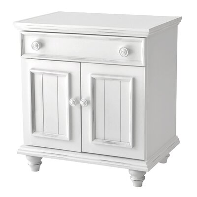Mary Jane 1 Drawer Nightstand Finish: White