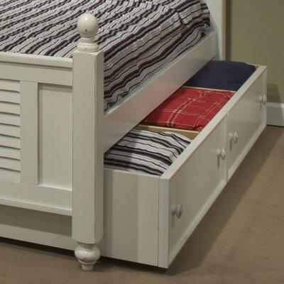 Storage Twin Trundle Color: White