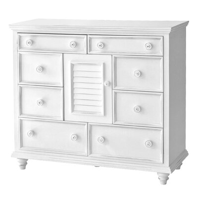 Addison 8 Drawer Combo Dresser Chest Color: White