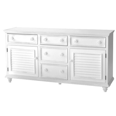 Addison 5 Drawer Combo Dresser Color: White