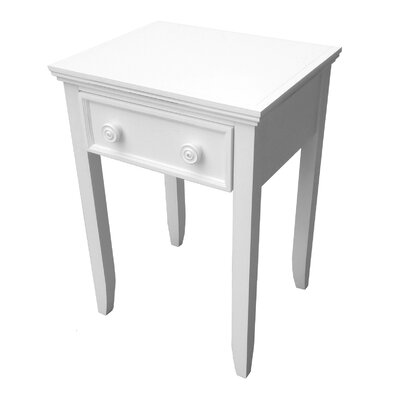 Roselle 1 Drawer Nightstand Color: White