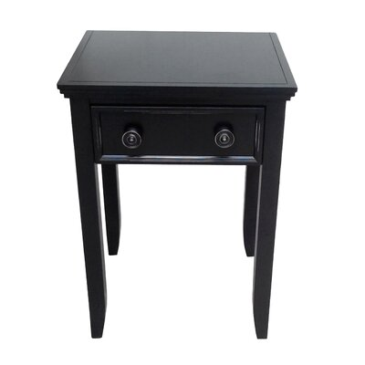 Baileyville 1 Drawer Nightstand Color: Black