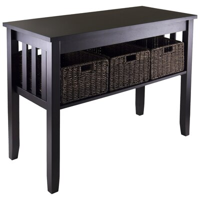 Robbinston Console Table And Baskets