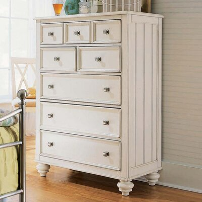 Baileyville 6 Drawer Lingerie Chest FInish: Ivory