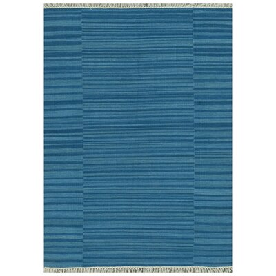 Tilly Hand-Woven Blue Area Rug Rug Size: Rectangle 79 x 99