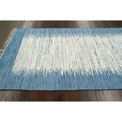 Portglenone Hand-Woven Blue Area Rug