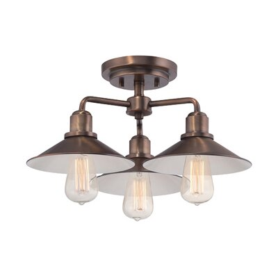 Tenants Harbor 3-Light Semi Flush Mount