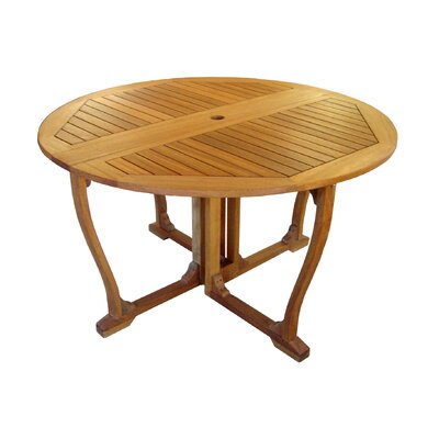 Sabbattus Outdoor 51 Wooden Gate Leg Patio Table