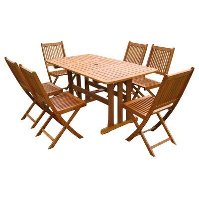 Sabbattus 7 Piece Outdoor Dining Set