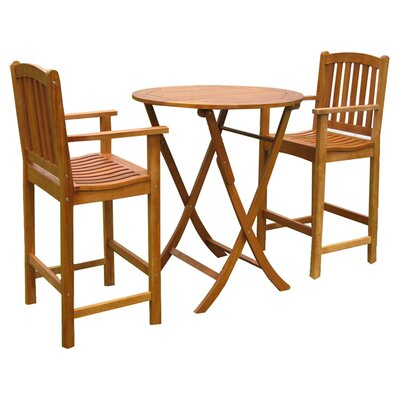 Sabbattus 3 Piece Dining Set