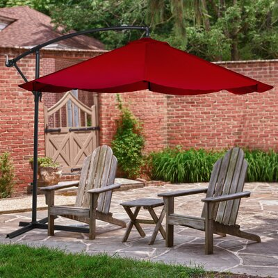 10 Cantilever Umbrella Color: Red