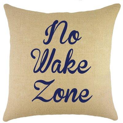 Colbert Burlap Throw Pillow Color: Navy