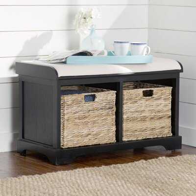 Fontaine Storage Bench Color: Distressed Black