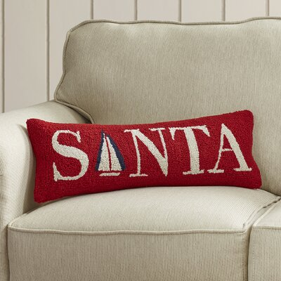 Atlas Point Santa Sail Boat Wool Lumbar Pillow