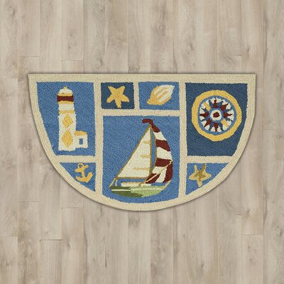 Milbridge Blue Nautical Area Rug
