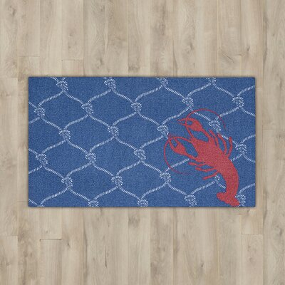 Orton Navy/Red Lobster Area Rug