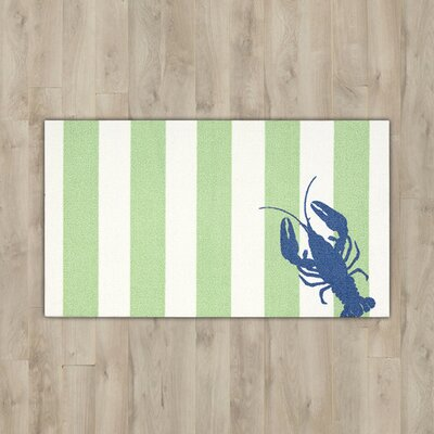 Orton Lobster Green/White Area Rug