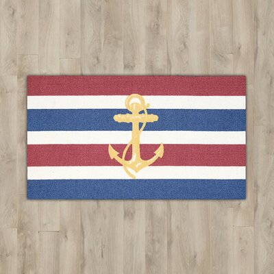 Orton Navy Anchor Area Rug