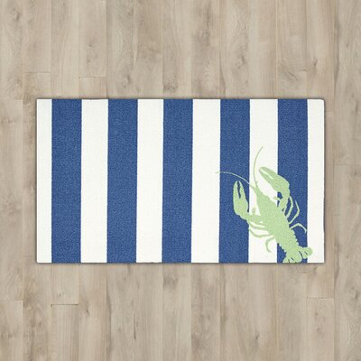 Orton Lobster Navy/White Area Rug