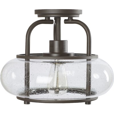 Braxton Traditional 1-Light Semi Flush Mount Color: Bronze