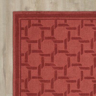 Resort Hand-Loomed Sealing Wax Area Rug Rug Size: Round 8 x 8
