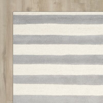 Torrington Hand-Tufted Grey/Ivory Area Rug Rug Size: 6' x 9'