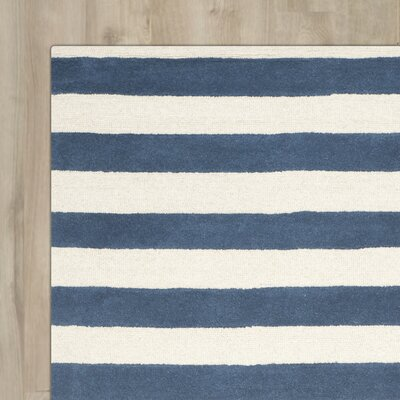 Torrington Hand-Tufted Navy/Ivory Area Rug