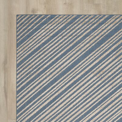 Guilford Blue Indoor/Outdoor Area Rug Rug Size: 33 x 53