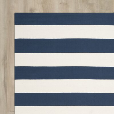 Wallingford Hand-Woven Navy/Ivory Area Rug Rug Size: 10' x 14'